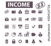 income icons  | Shutterstock .eps vector #430414726
