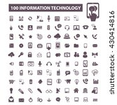 information technology icons  | Shutterstock .eps vector #430414816