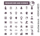 researcher and science icons  | Shutterstock .eps vector #430414855