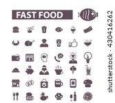 fast food icons  | Shutterstock .eps vector #430416262
