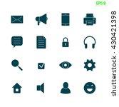 set of sixteen web ui icons....