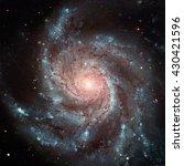 the pinwheel galaxy  also known ... | Shutterstock . vector #430421596