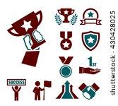 win  success  honor icon set | Shutterstock .eps vector #430428025