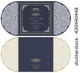 wedding invitation baroque.... | Shutterstock .eps vector #430440448