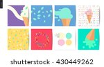 ice cream square postcards   8... | Shutterstock .eps vector #430449262