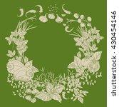 contoured wreath of vector... | Shutterstock .eps vector #430454146