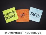 limiting beliefs are not facts... | Shutterstock . vector #430458796
