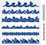 blue waves sea ocean vector...   Shutterstock .eps vector #430461052