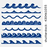 blue waves sea ocean vector... | Shutterstock .eps vector #430461055
