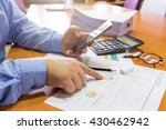 business man working with smart ... | Shutterstock . vector #430462942