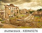 the roman forum in rome  italy. | Shutterstock . vector #430465276