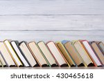 stack of colorful books.... | Shutterstock . vector #430465618