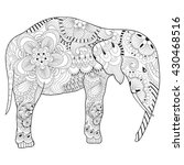 Hand Drawn Zentangle Elephant...