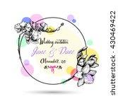 vintage wedding invitation card ...   Shutterstock .eps vector #430469422