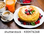 pancakes with berries  | Shutterstock . vector #430476268