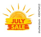 july sale summer banner   text... | Shutterstock . vector #430476412