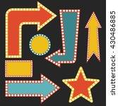 arrow signs set vector abstract ... | Shutterstock .eps vector #430486885