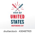fourth of july  united stated... | Shutterstock .eps vector #430487905