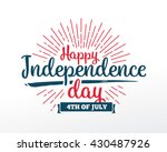 fourth of july  united stated... | Shutterstock .eps vector #430487926
