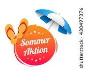german summer promotion label   Shutterstock .eps vector #430497376