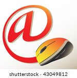 mouse and mail sign | Shutterstock .eps vector #43049812