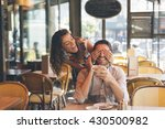 young couple dating in paris    Shutterstock . vector #430500982