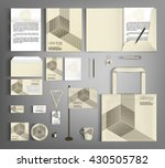 trendy corporate identity... | Shutterstock .eps vector #430505782