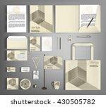 trendy corporate identity... | Shutterstock .eps vector #430505782