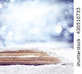 winter background of board  | Shutterstock . vector #430510735