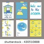 summer beautiful cards. print... | Shutterstock .eps vector #430510888