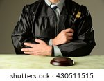 judge holding a hammer against... | Shutterstock . vector #430511515