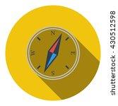 compass icon. flat design....