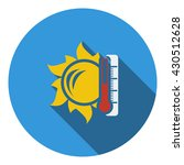sun and thermometer with high...