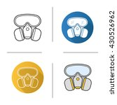 gas mask icon. flat design ... | Shutterstock .eps vector #430526962