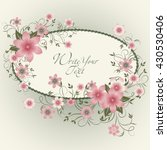 wedding card or invitation with ... | Shutterstock .eps vector #430530406
