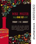 wine creative colorful poster... | Shutterstock .eps vector #430531822