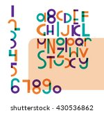 vector font with numbers .... | Shutterstock .eps vector #430536862