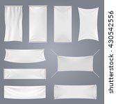 White Blank Textile Advertisin...