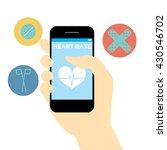 health apps in the screen phone ... | Shutterstock .eps vector #430546702