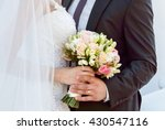 wedding couple with the stylish ... | Shutterstock . vector #430547116