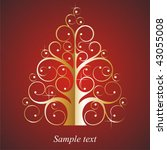 decorative christmas card with... | Shutterstock .eps vector #43055008