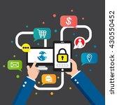e commerce business concept ... | Shutterstock .eps vector #430550452