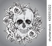 illustration with hand drawn... | Shutterstock . vector #430551322