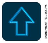 3d line neon arrow web icon ...