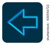 3d line neon arrow web icon...