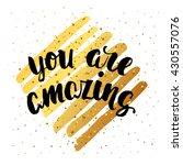 trendy hand lettering poster....   Shutterstock . vector #430557076