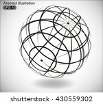 abstract futuristic background... | Shutterstock .eps vector #430559302