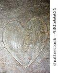 Heart Symbol At The Grey Wood