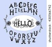 hand drawn english alphabet... | Shutterstock .eps vector #430566742