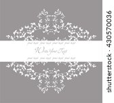damask vector style. perfect... | Shutterstock .eps vector #430570036